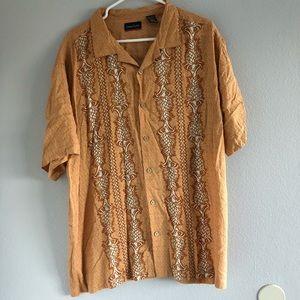Ocean Pacific Orange Hawaiian Shirt XXL